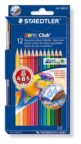 Noris Club aquarell - set 12 st + penseel