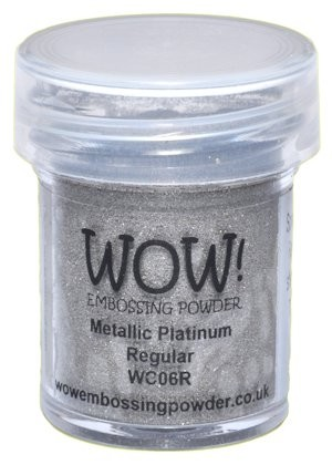 WOW embossingpoeder - Metallic Platinum Regular