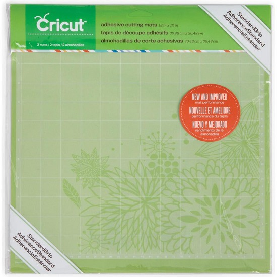 "Cricut - Cutting Mats 12""X12"" - 2/Pkg - Standard Grip"