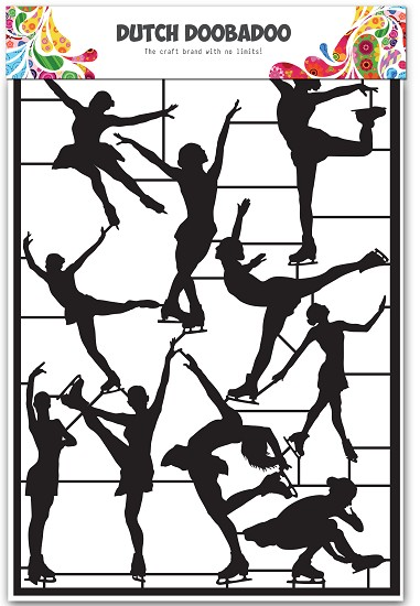Dutch Doobadoo - Dutch Paper Art A5 - Ice dansers