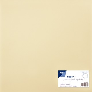 Joy! Crafts - Paper for Cardmaking - Cardstock créme 30,5 x 30,5 cm