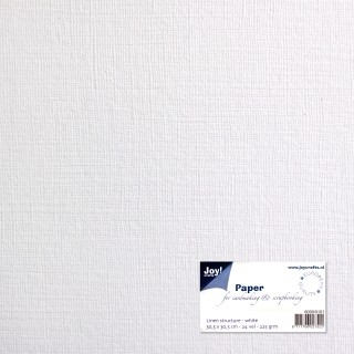 Joy! Crafts - Paper for Cardmaking - Cardstock linnen white 10 x 20 cm