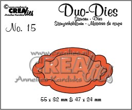 Stansmal - Crealies Duo Labels - nr 2 CLDD15