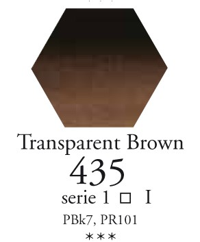 Sennelier - l`Aquarelle - Halve napjes - 435 Transparent Brown