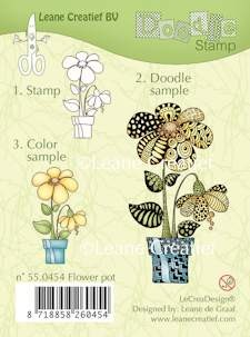 Clearstamp - LeCrea Lea'bilitie® - Doodle Stamp Flower Pot