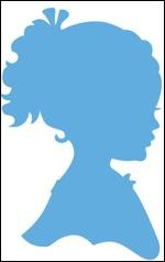 Marianne Design - Creatables - Silhouette girl with ponytail