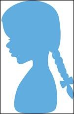 Marianne Design - Creatables - Silhouette girl with braids
