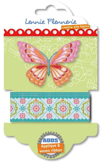 Lennie Flennerie - Adds - Applique + Ribbon Butterfly