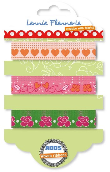 Lennie Flennerie - Adds - Woven Ribbons set Flower Heart