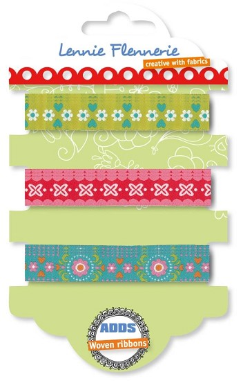 Lennie Flennerie - Adds - Woven Ribbons set Graphic Flower