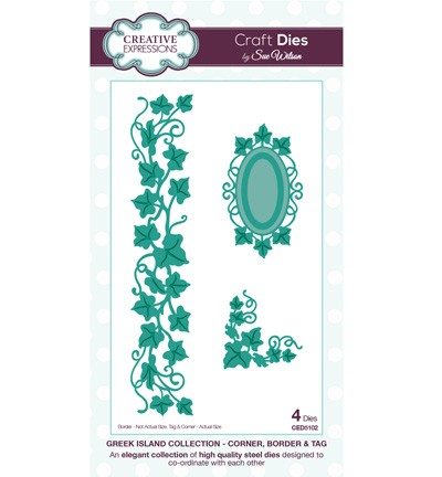 Stansmal Creative Expressions - Craft Dies - Corner, Border & Tag