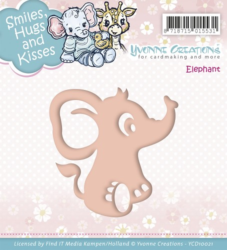 Stansmal Yvonne Creations - Smiles, Hugs and Kisses - Elephant