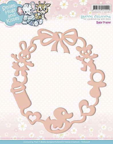 Stansmal - Yvonne Creations - Smiles, Hugs and Kisses - Baby Frame