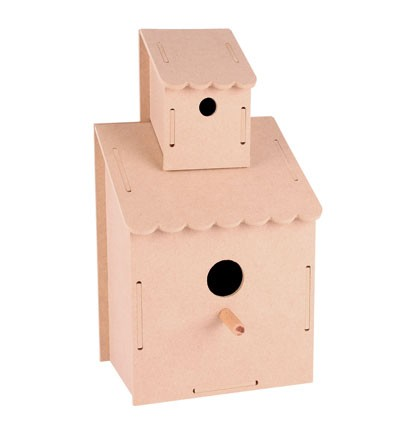 Pronty - MDF Vogelhuisje - Birdhouse with 2 floors