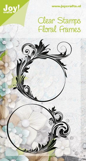 Noor! Design - Clearstamps - Silhouettes - Floral Frames 1