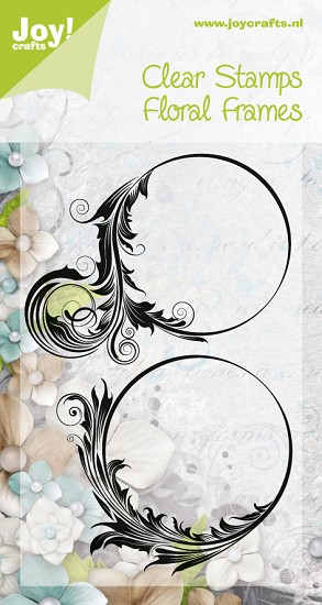 Noor! Design - Clearstamps - Silhouettes - Floral Frames 2