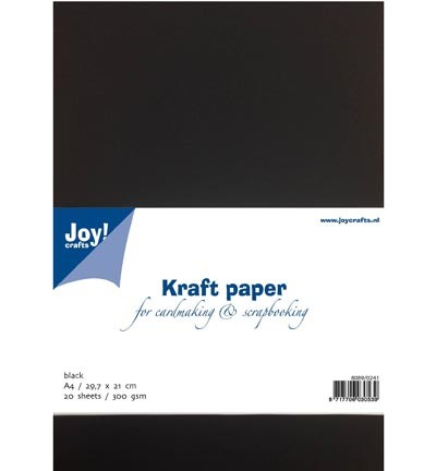 Joy! Crafts - Kraft papier zwart - A4