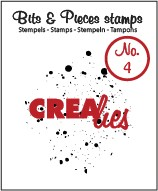 Clearstamp Crealies - Bits & Pieces - No 04 Ink Splashes