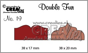 Stansmal - Crealies - Double Fun die - no. 19 markering 1