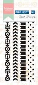 Marianne Design - Project Life - Clars stamps border - Dots