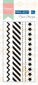 Marianne Design - Project Life - Clars stamps border - Stars
