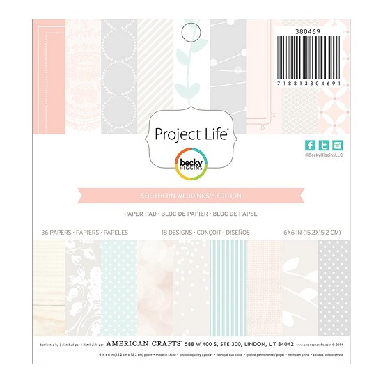 "Paperpad - Project Life 6""X6"" - Southern Weddings"