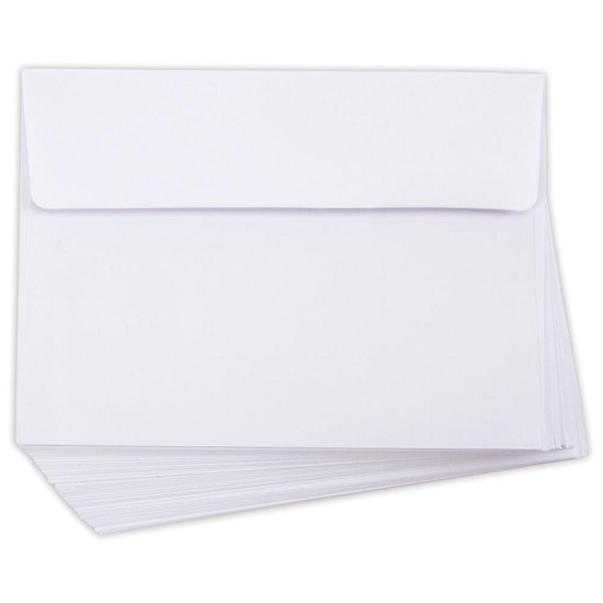 "Smooth A7 Envelopes - (5.25""X7.25"") - 50/Pkg White"