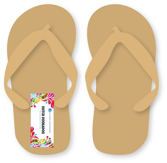 Dutch Doobadoo - Dutch MDF Art - Pair of FlipFlops