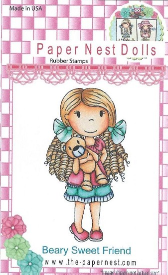 Rubber stamp - Paper Nest Dolls - Beary Sweet Friend