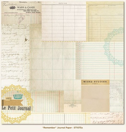 Scrappapier - MME - The Sweetest Thing - Bluebell - Remember Journal