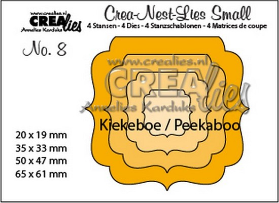 Stansmal - Crealies - no. 8 Kiekeboe ornament vierkant