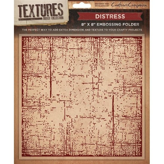 "Crafters Companion - Embossingfolder Textures - 8"" x 8"" - Distress"
