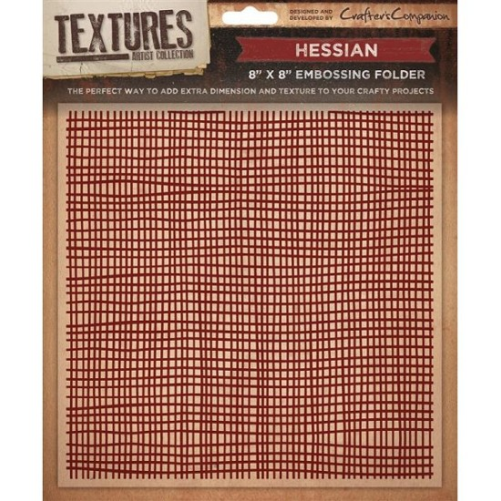 "Crafters Companion - Embossingfolder Textures - 8"" x 8"" - Hessian"