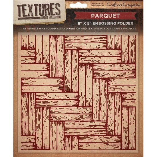 "Crafters Companion - Embossingfolder Textures - 8"" x 8"" - Parquet"