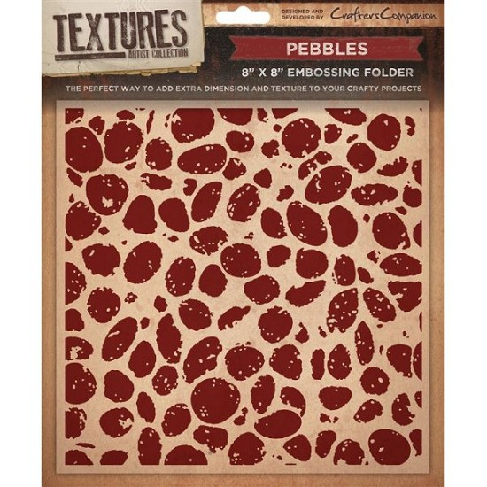 "Crafters Companion - Embossingfolder Textures - 8"" x 8"" - Pebbles"
