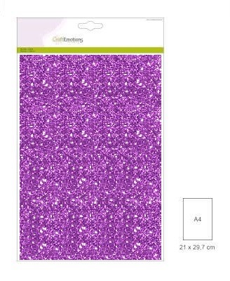 CraftEmotions - Glitterpapier - Paars - 120gr/5vel
