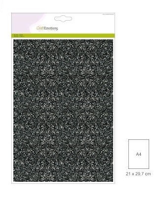 CraftEmotions - Glitterpapier - Zwart - 120gr/5vel