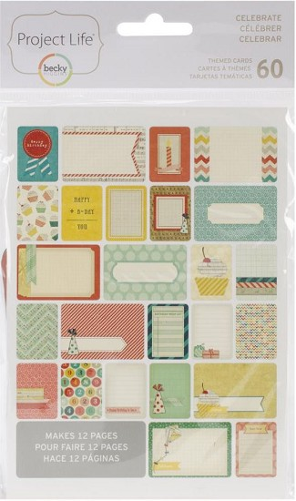 Project Life - Themed Cards 60/Pkg -  Celebrate