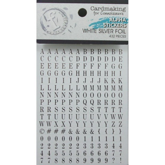 Ruby Rock-it! - Fundamentals Alphabet Stickers 432/Pkg - Silver on White