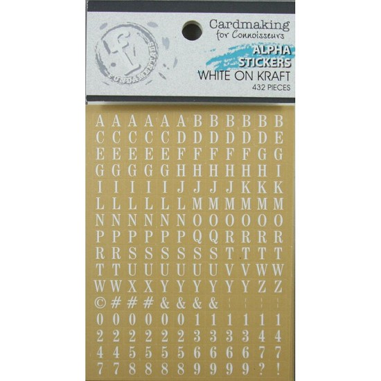Ruby Rock-it! - Fundamentals Alphabet Stickers 432/Pkg - White on Kraft