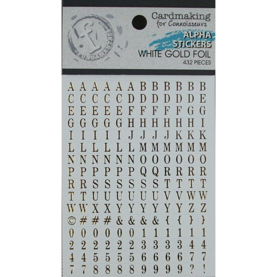 Ruby Rock-it! - Fundamentals Alphabet Stickers 432/Pkg - Gold on White