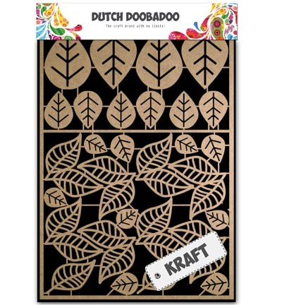 Dutch Doobadoo - Dutch Paper Art A5 - Kraft Leaves 2
