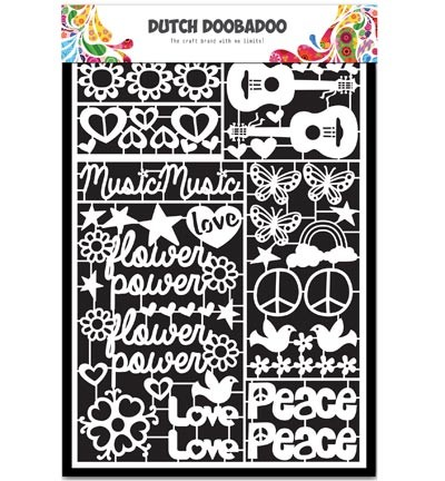 Dutch Doobadoo - Dutch Paper Art A5 - Flower Power