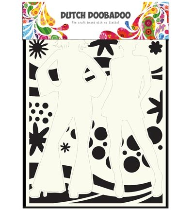 Dutch Doobadoo - Dutch Mask Art - Flower Power A4