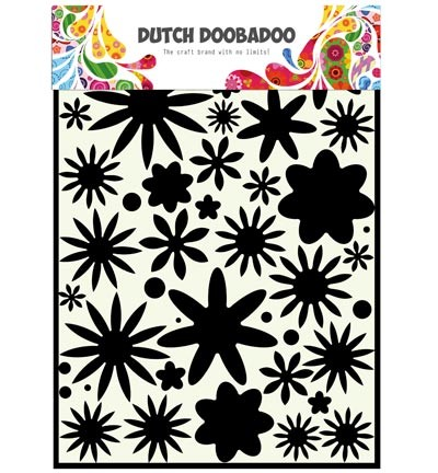 Dutch Doobadoo - Dutch Mask Art - Flower Power Flowers A4