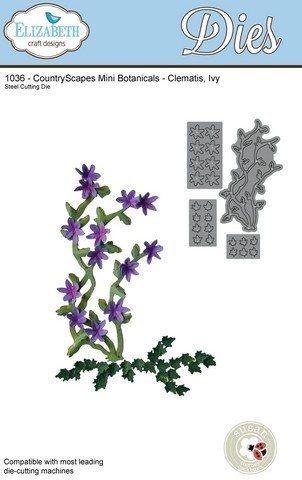 Stansmal Elizabeth Craft Design - Country Scapes - Mini Botanical Clematis