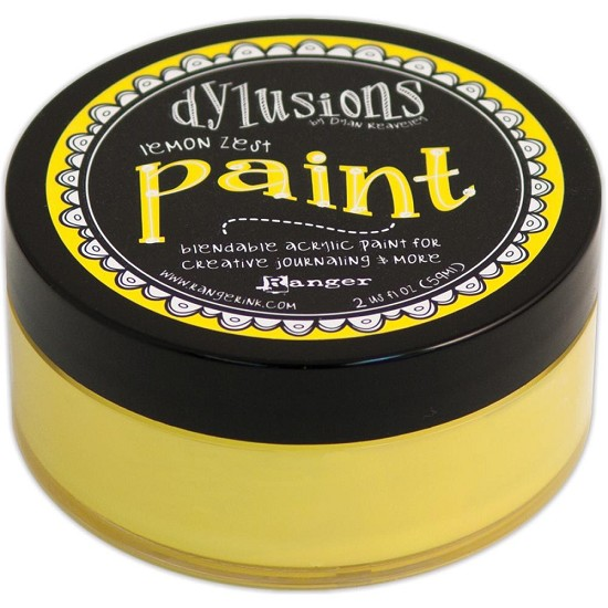 Dyan Reaveley`s - Dylusions Paint - Lemon Zest