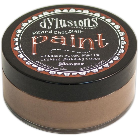 Dyan Reaveley`s - Dylusions Paint - Melted Chocolate