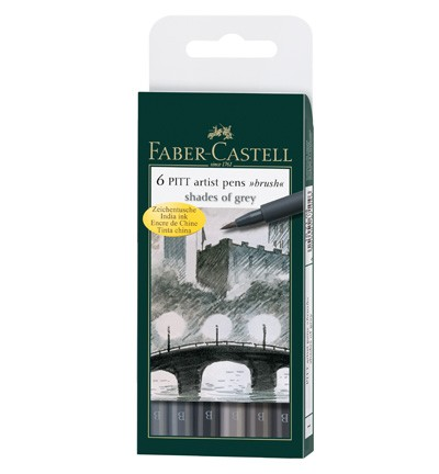 Faber Castell - PITT Stift Artist - Shades of Grey
