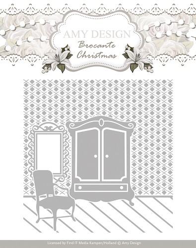 Embossing Folder - Amy Design - Brocante Christmas